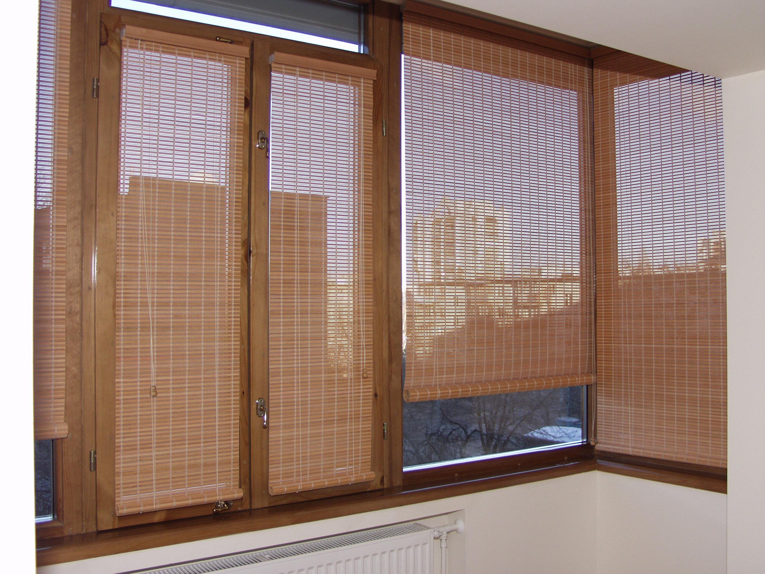 Бамбуковые ролеты на окна установка своими руками